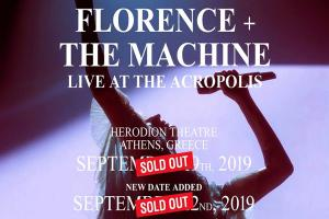 Florence & The Machine SOLD OUT και η συναυλία στις 22/9