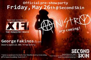 MINISTRY   Official Pre-Show Party + Special screening FIX: THE MINISTRY MOVIE  + George Fakinos Dj set